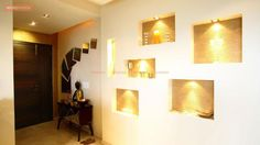 Indian Home Design Ideas and Images by Renomania Indian Home Design, Indian Home Interior, Home Interior Design, Buddha Decor, Wall Lights, House Design, Photos, Home Decor, Appliques