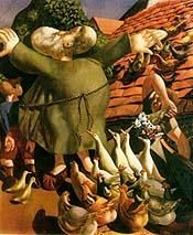 """""""St. Francis and the Birds"""" by Sir Stanley Spencer"""