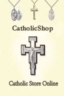 Religious gift store with rosary cards and other Catholic gifts