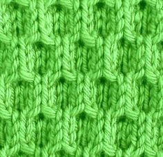 Knitting Galore: Saturday Stitch: Easy Honeycomb Stitch.