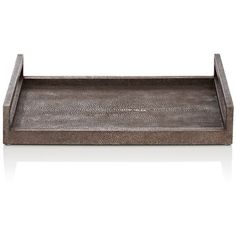 Ginger Brown Shagreen Tray (€720) ❤ liked on Polyvore featuring home, home decor, small item storage, grey, brown home decor, grey home decor, grey tray, shagreen tray and gray home decor