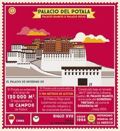 El Palacio del Potala, en Lhasa (capital del Tíbet), es la residencia de un personaje muy importante en la cultural oriental. ¿Sabes el título que ostenta esta persona? #AtlasMonumental