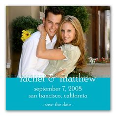 Colorful Photo Magnet -  Save the Date - Palm