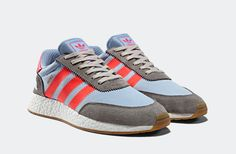 adidas Originals Adds Solid Grey/Turbo & Haze Coral/Blue Colorways to the Iniki Lineup