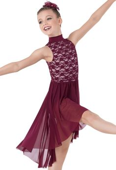 Weissman™ | Stretch Lace Mock- Turtleneck Dress