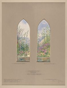 Design for McCormick windows. Tiffany.