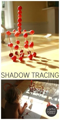Shadow Tracing Art for Kids with Grape Sculptures (Eat them afterward!)