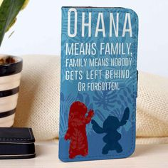 Lilo and Stitch Ohana Quotes | Disney | Movie | custom wallet case for iphone 4/4s 5 5s 5c 6 6plus case and samsung galaxy s3 s4 s5 s6 case - RSBLVD