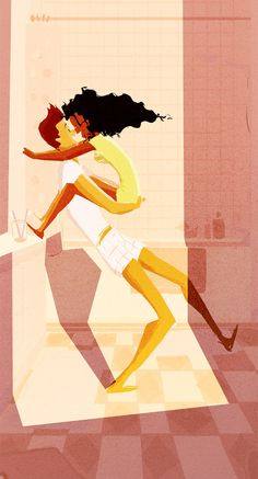 (Pinned by AshOkaConcept ॐ) Original Illustrations by Pascal Campion Black Woman White Man, Black And White Love, Mixed Couples, Cute Couples, Interracial Art, Arte Black, Pascal Campion, Love Art, Illustration Art
