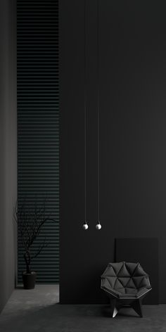 High vertical walls are like a canvas painted by the light with gradient monochromatic tones. Tribute to all that is dark! Inspired by VIPP