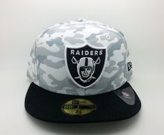 OAKLAND RAIDERS NFL CAMO NEW ERA 59 FIFTY FITTED HAT/CAP (SIZE 7 1/2) -- NEW #NEWERA59FIFTY #OaklandRaiders