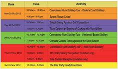 The 'Off Site' Activities for the 3rd Caribbean Rum & Beer Festival - Grenada.