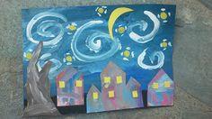 """Evening Sky"" Activity based on Van Gogh's Starry Night (from Maro's Kindergarten)"
