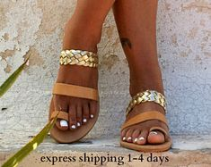 IONIA 2 sandals/ ancient Greek leather sandals/ strappy