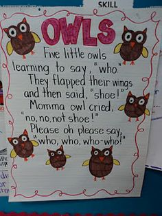 Five Little Owls...cute little poem, not sure when I would use it but I like it