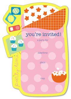 sleepover party invitation template