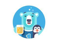 Polar Buddies - illustration by Andrew McKay