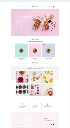 Website Design Inspiration for Elizabeth - Wix - Create website with Wix - - Homemade Cookie Store Website Template. Website Design Inspiration for Elizabeth Ellery Website Design Inspiration, Simple Website Design, Website Design Layout, Web Layout, Website Ideas, Portfolio Website Design, Website Web, Food Web Design, Web Design Mobile