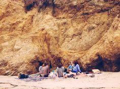 amigos na praia