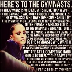 Here's to the gymnast...