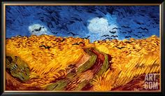 Wheatfield with Crows, c.1890, by Vincent van Gogh