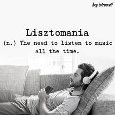 Wisdom Quotes : QUOTATION - Image : As the quote says - Description Lisztomania - themindsjournal. Unusual Words, Weird Words, Rare Words, Cool Words, Awesome Words, Unique Words With Meaning, Fancy Words, Words To Use, Pretty Words