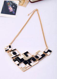 really cute geometric necklace Fashion Jewelry Necklaces, Fashion Necklace, Women Jewelry, Jewellery, Betsey Johnson Necklace, Premier Jewelry, Geometric Necklace, Punk, Cartier Love Bracelet