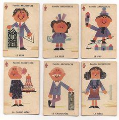 Jeu de cartes Sept Familles Beaux-Arts, illustré par Pierre Jacquot - Samaritaine, Paris