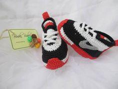 Crochet Baby Booties Crochet baby sneakers crochet por BUBUCrochet