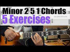 "5 exercises taken from the PDF eBook ""40 Minor 2 5 1 Chord Voicings For Jazz Guitar""."