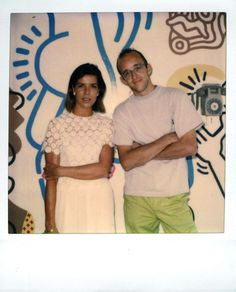 Princess Caroline de Monaco and Keith Haring,Monte Carlo 1989 © Estate of Keith Haring.