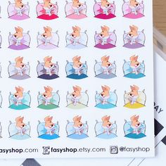 42 Barb is Sick - Cute Kawaii Stickers by FasyShop on Etsy