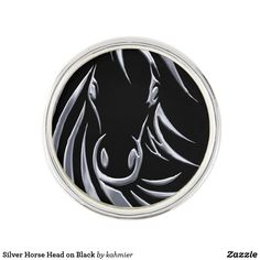 Silver Horse Head on