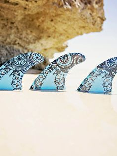 limited Edition Customised Surfboard fins – WWC Mandala – by Finatics ~ RRP $95…