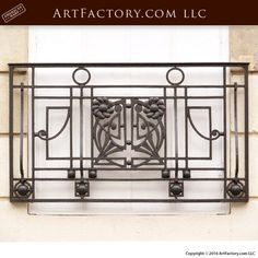 Fine Art Iron Railing - Balcony Design From Historical Record. Designs, railings, and staircase iron handcrafted and made to order from the highest quality materials, handcrafted in the USA Balcony Railing Design, Stair Railing, Staircase Design, Loft Railing, Metal Railings, Balcony Grill, Iron Balcony, Balcony Garden, Wrought Iron Stairs