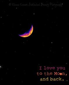 Fine Art Print, I love you #etsy #love #moon #fine art