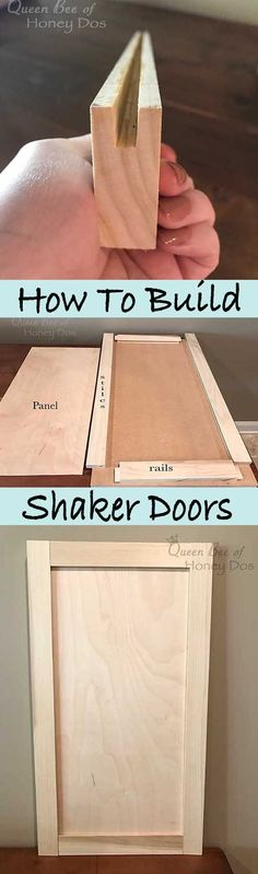 How to Build Shaker Doors #woodworkingtips