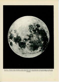 1959 full moon original vintage astronomy planet print. $30.50, via Etsy.