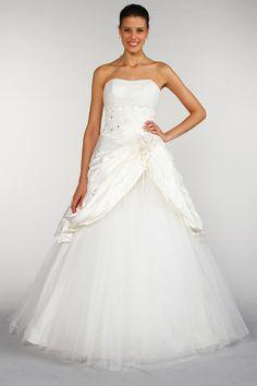 robe tati mariage robe taffetas et tulle paillet blanc jusquen 48 - Tati Mariages