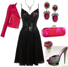 LBD With Hot Pink Accessories