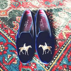 Ralph Lauren smoking slippers