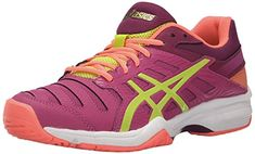 ASICS Women's GEL-Solution Slam 3 Tennis Shoe, Berry/Lime/Plum, 9.5 M US -- To view further for this item, visit the image link.