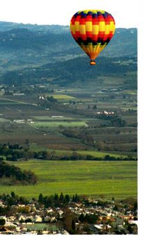 Balloon Ride over the Wine Country of Napa Valley, California
