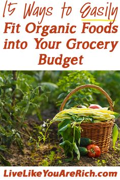 Practical, easy, and useful ideas for saving money on organic foods. #LiveLikeYouAreRich