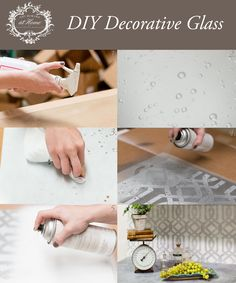 DIY backsplash using Amy Howard at Home Silver Fox and White Perfection Lacquers