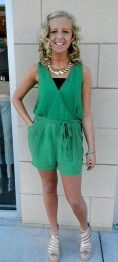 Green gotta have romper:)