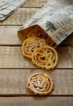 Baby funnel cakes. PC: Snippet & Ink. Funnel cake recipe here!
