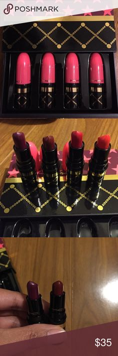 Mac Nutcracker seweet red lipstick set Mac 2016 holiday gift set, includes 4 mini lipsticks. Brand new. MAC Cosmetics Makeup Lipstick