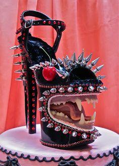 Weird Shoe Wednesday @ lifeisashoe.blogspot.com Shoe Art/Sculpture by Scott Hove