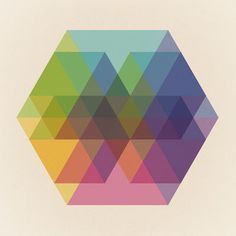 Fig. 040 Hexagon Shapes Art Print by Maps of Imaginary Places / Society6 (maps of imaginary places,geometric,geometry,pattern,print,poster,hexagons,color,triangles)